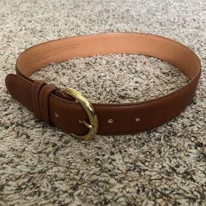 Coach USA British Tan leather belt, sz Small